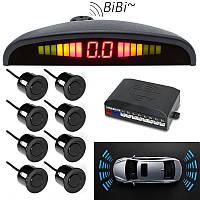 Парковочная система парктроник (8 датчиков парковки), Parking Sensor, парковочный радар на авто, Автомобильные аксессуары