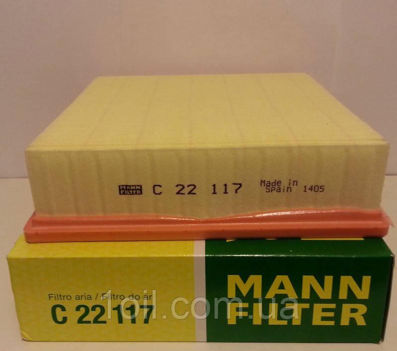 Фильтр воздушный MANN С22117 инж.двиг. ВАЗ  (аналог LX220)