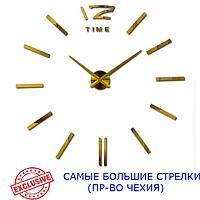3D-Часы 130 см Najlepsi Cas (Чехия) Палочки золотые [Металл, пластик] настенные большие часы наклейки