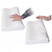 Ортопедическая подушка с эффектом памяти Memory Pillow 50х30см анатомическая мемори с памятью, Постельное белье, подушки, одеяла для детей