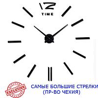 3D-Часы 130 см Najlepsi Cas (Чехия) Палочки черные [Металл, пластик] настенные большие часы наклейки