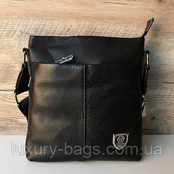 Чоловіча шкіряна сумка планшет Philipp Plein