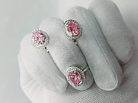 """Серебряный набор с розовым камнем """"Селена"""", фото 1"""