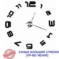 3D-Часы 130 см Najlepsi Cas (Чехия) Арабские черные [Металл, пластик] настенные большие наклейки оригинальные