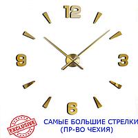3D-Часы 130 см Najlepsi Cas (Чехия) Арабские2 золотые [Металл, пластик] настенные большие часы наклейки