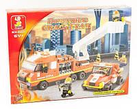 Конструктор Sluban серия Пожарные спасатели M38-B0223 (Специальная пожарная команда), фото 1