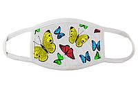 Стильна маска з метеликами