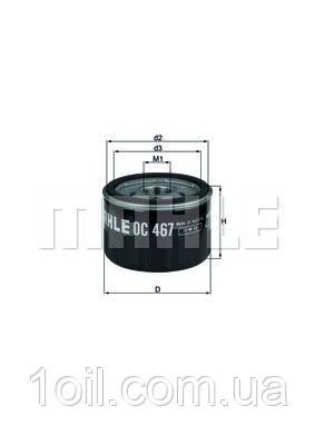 Фильтр масляный KNECHT OC467 (OC309)