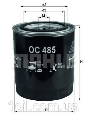 Фильтр масляный KNECHT OC485