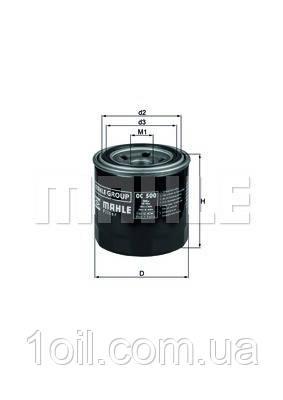 Фильтр масляный KNECHT OC500