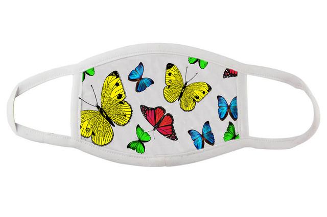 Стильная маска с бабочками