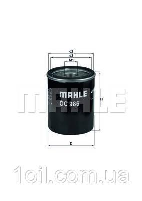 Фильтр масляный KNECHT OC986 (ОС259)