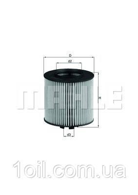 Фильтр масляный KNECHT OX341D