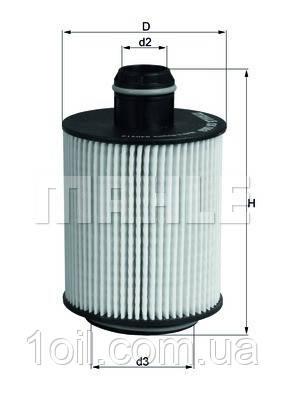Фильтр масляный KNECHT OX553D