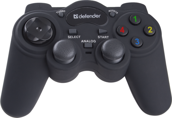 Игр.манипулятор DEFENDER (64251)GAME RACER TURBO аналоговый