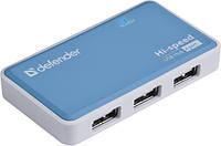 USB-хаб Defender Quadro Power+Adapter 4xUSB 2.0 220V (83503)