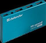 Комп.аксесcуары DEFENDER (83505)Хаб 7xUSB 2.0 SEPTIMA SLIM+Adapter 220v , фото 2