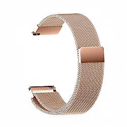 Металлический браслет для GARMIN Universal 20 Milanese Loop Metal Braselet Rose Gold