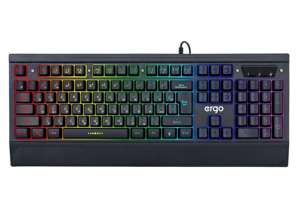 Клавиатура ERGO KB-640 Keyboard ENG/RUS/UKR Черный