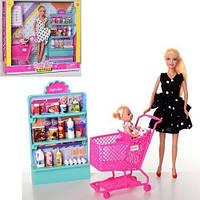 Кукла DEFA, дочка, супермаркет, тележка, 2 вида, 8364-BF