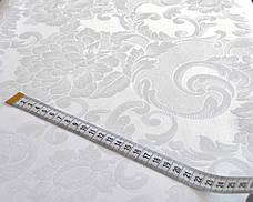 Ткань Скатертная TS-360354 Цветы 360см Белая Италия, фото 3