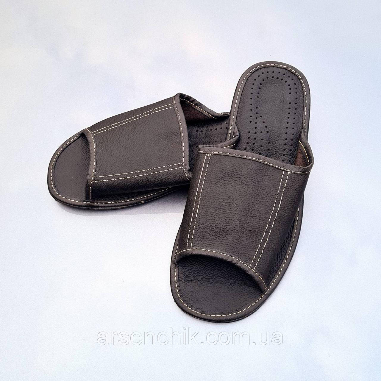 """Домашние кожаные мужские тапочки """"Polmar"""""""
