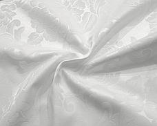 Тканина Скатертная TS-360354 Квіти 360см Біла Італія, фото 2