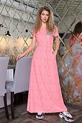 Платье в пол в расцветках 04р1366