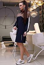 Женское свободное платье с воротником-стойкой /разные цвета, M-XXL, SEV-1307.3969/, фото 3