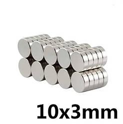 Маленький Польский неодимовый магнит 10мм*3мм, 2,5кг, N42,🔥ПОЛЬША🔥