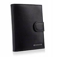 Чоловічий шкіряний гаманець Betlewski з RFID 12,4 х 9,5 х 3 (BPM-VTC-64) - чорний, фото 1