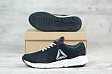 Мужские весенние кроссовки текстильные/сетка черный Reebok, фото 3