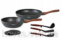 Набор посуды с мраморным покрытием  Edenberg Stone Line  - 15 предметов, фото 3