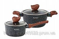 Набор посуды с мраморным покрытием  Edenberg Stone Line  - 15 предметов, фото 4
