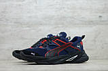 Мужские весенние кроссовки текстильные/сетка синий Puma, фото 4
