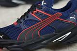 Мужские весенние кроссовки текстильные/сетка синий Puma, фото 8