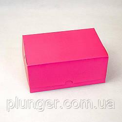 Коробка-контейнер для кондитерських виробів, кольорова Рожева