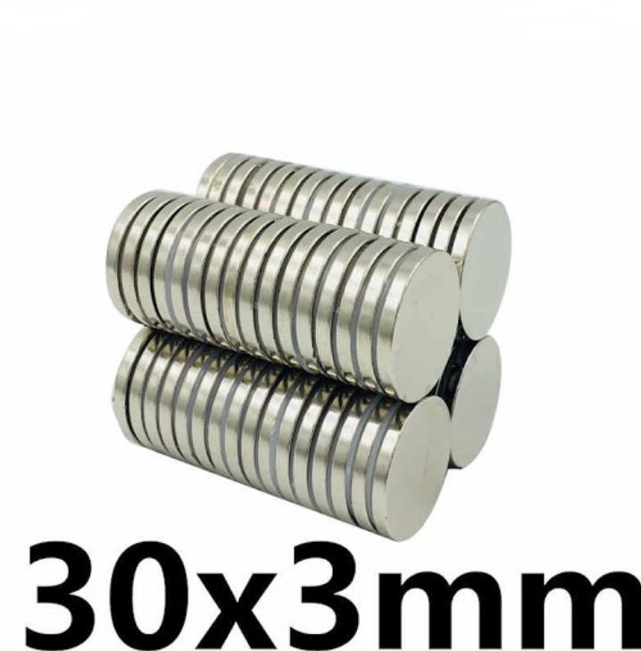 Польский неодимовый магнит 30мм*3мм, 10кг, N42