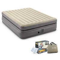Надувная двухспальная кровать Intex со встроенным насосом 220 V (152*203*51 см)