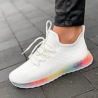 Кроссовки женские белые летние весенние модные популярные ( код 5425 ) - жіночі кросівки білі модні зручні