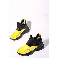 Яркие высокие кроссовкибез шнурков от украинского производителя