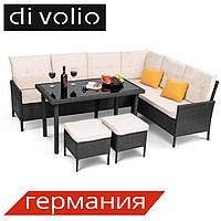 Набор садовой мебели VENICE Black, ротанг, техноротанг, комплект мебели для сада