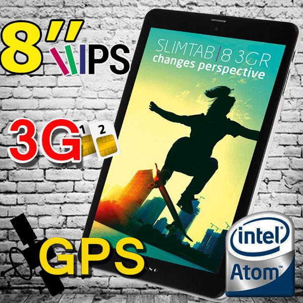"Планшет-телефон Kiano slimtab  8 (3G)-8"" дюймов IPS с 3G + ПОДАРОК!!!"