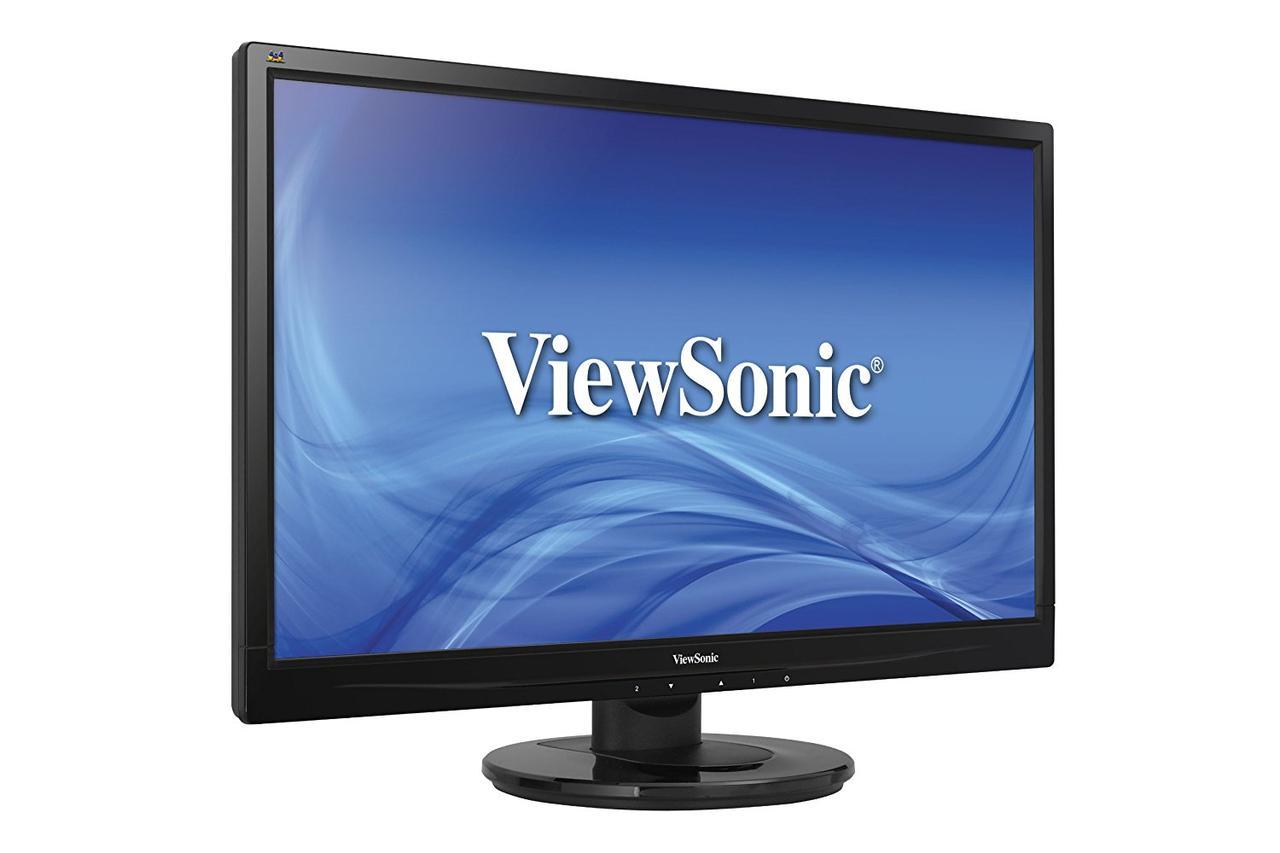 """Монитор 23.6"""" ViewSonic VA2445-LED Glossy-Black FullHD LED 5ms 16:9 DVI 10M:1 250cd"""