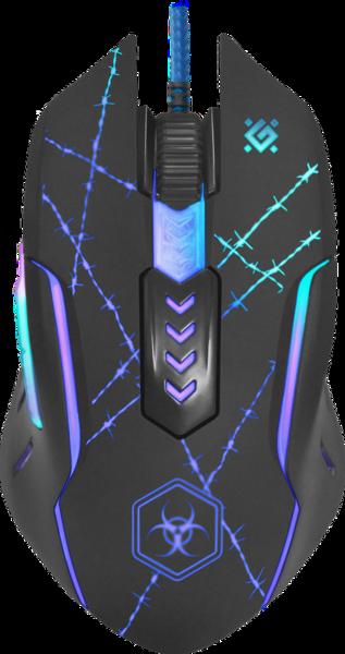IT/наб DEFENDER (52020)Forced GM-020L 6 кн., 3200dpi, игр.коврик