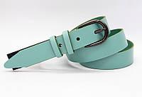 Кожаный женский ремень 30 мм мята