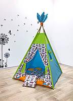 """Детский вигвам , домик, палатка для игры """"  Воздушный полет"""" , четырехгранный"""