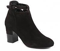 Ботинки женские черные, поясок, ТМ Лидер 3428.31, 39 размер