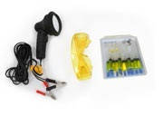 Профессиональный набор для поиска утечек фреона – лампа на 100 Вт, очки, насос.