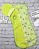 """Евро пеленка-кокон с шапочкой """"Бегемотик"""" для новорожденных деток. Зеленый"""